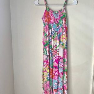 Lilly Pulitzer Girls Nosey Posey Maxi sz 10/12